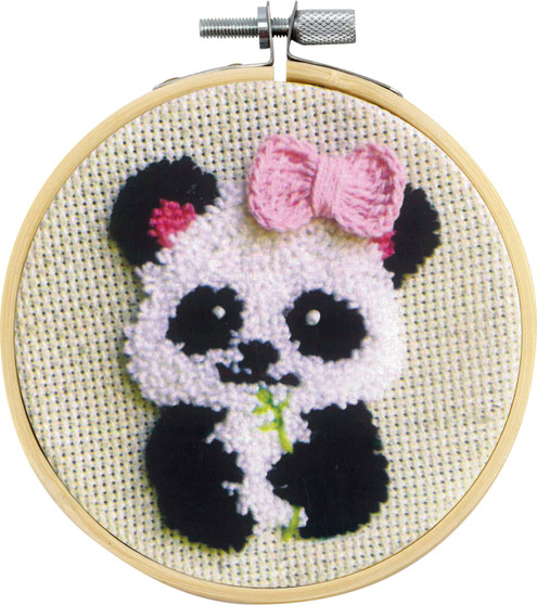 Pippa The Panda Needle Punch Kit With Hoop