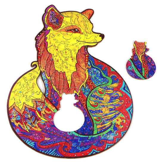 Alluring Fox Wooden Puzzles