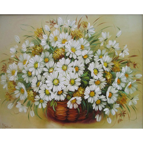 Pretty Petals Paint By Numbers Pre-Framed Canvas