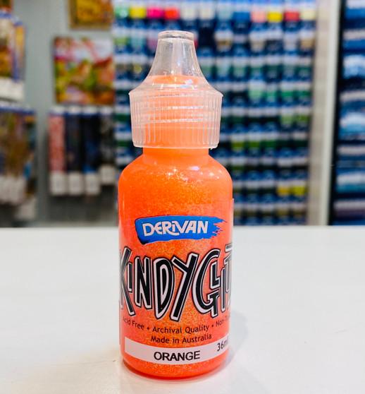 Kindy Glitz Orange Glitter Glue