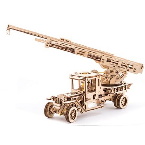 UGears Fire Truck with Ladder Mechanical Model
