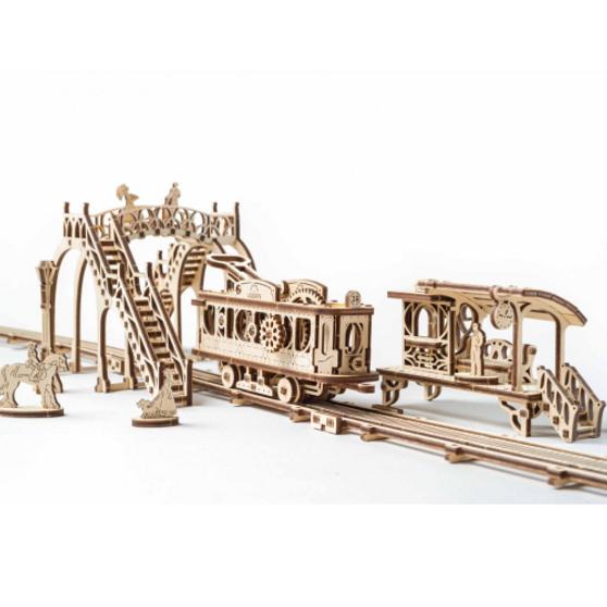 Ugears Tram Line Model Mechanical Model