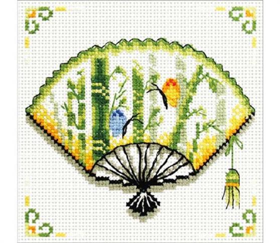 Bamboo Fan No Count Cross Stitch