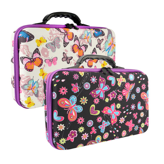 60 Containers With Butterfly Print Storage Case