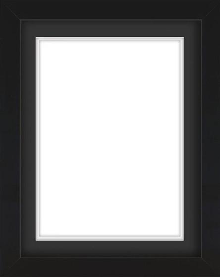 Black Wooden Frame With Mat Board DDF4152