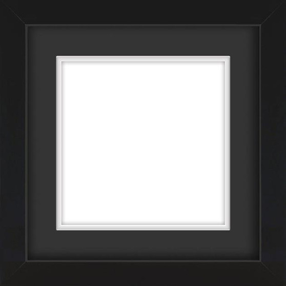 Black Wooden Frame With Mat Board DDF215215