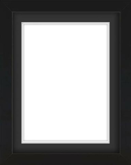Black Wooden Frame With Mat Board DDF3042