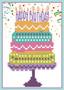 Happy Birthday Cake Greeting Card Diamond Painting Kit