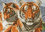 Tigers Pre-Framed Diamond Dotz® Square Diamond Painting Kit