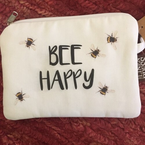 Bee Happy Fabric purse