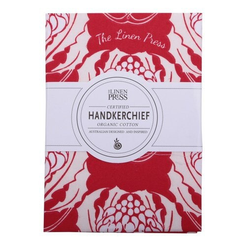 Waratah handkerchief