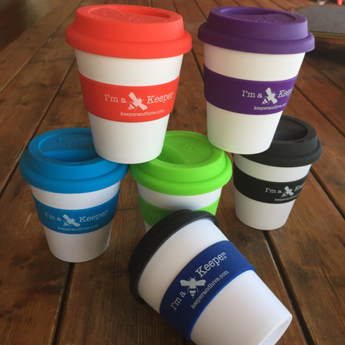 """I'm a Keeper"" reusable drink cup"