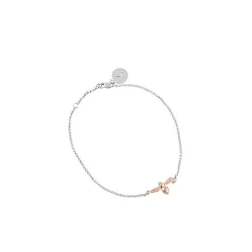 Bee Chain Bracelet Silver/Rose