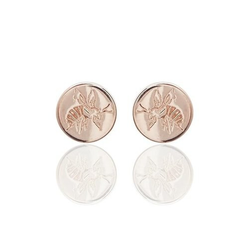 Bee Engraved Stud Earring Rose