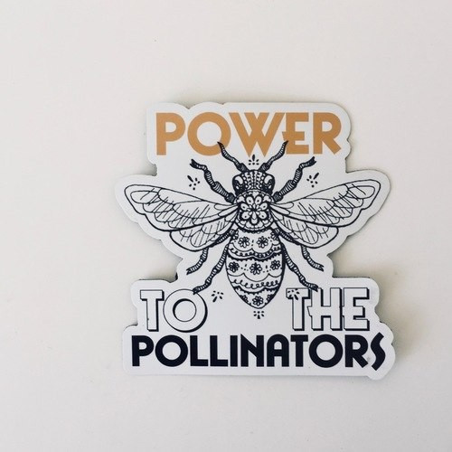 Power to the Pollinators sticker