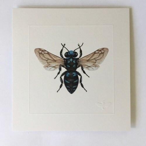 Miniature print Neon Cuckoo Bee