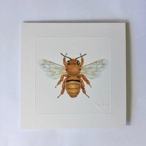Miniature print. Teddy Bear Bee