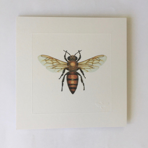 Miniature print Honey Bee