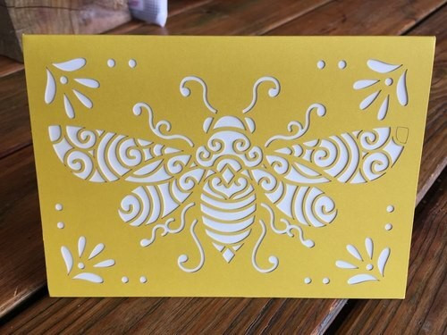 Laser cut card (box of 10 cards)