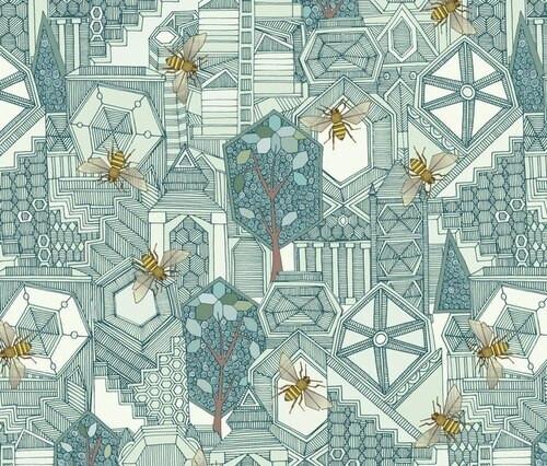 Tote hexagon city
