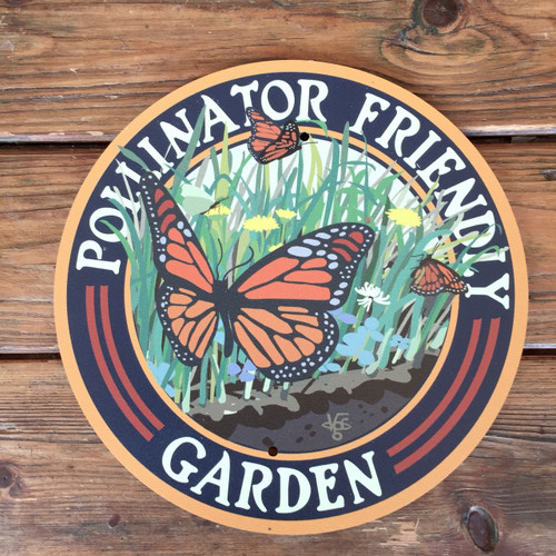 Garden sign. Butterfly pollinators
