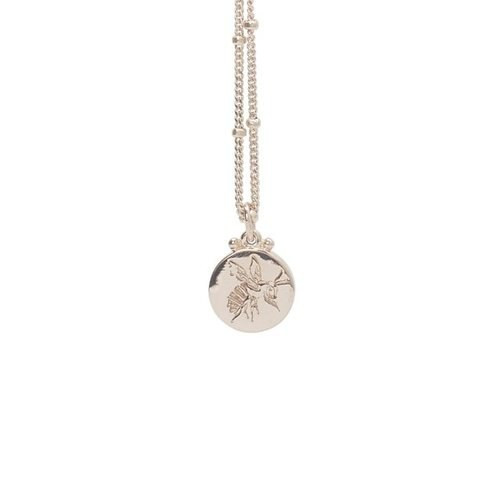 Engraved Bee Necklace Rose