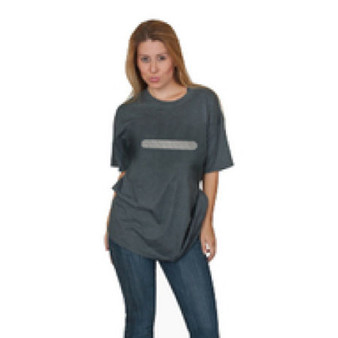 Reflective  Horizontal Bar   T- shirt - Heather Gray