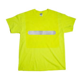 Reflective  Horizontal Bar   T- shirt -  Lime