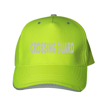 Reflective utility baseball cap -  Neocap  - Crossing Guard - Lime