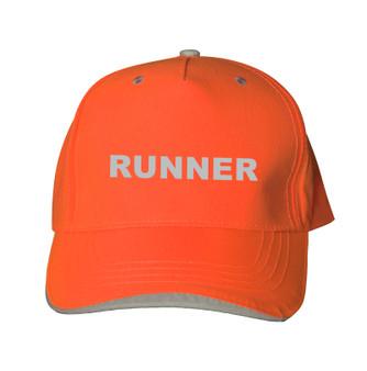 Reflective baseball cap -   Neocap - Runner -  Orange