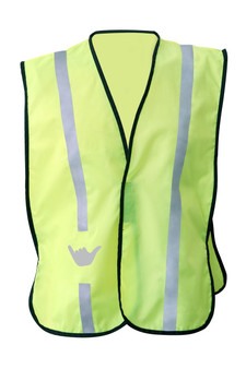 NON  ANSI Reflective  safety vest -Vestbadge - Hang Loose