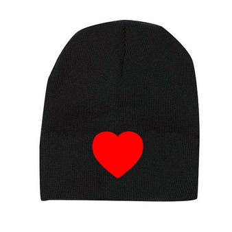 Reflective Beanie  - Heart  -  Red/ On Sale