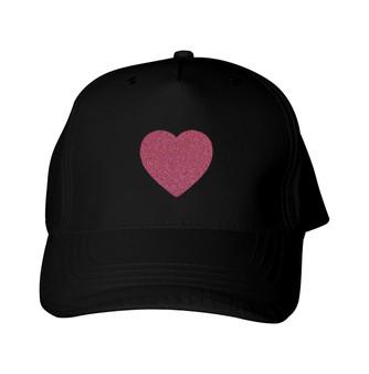 Glitter Baseball Cap -  GlitterRed - Heart