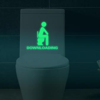 Glow in the dark toilet sticker