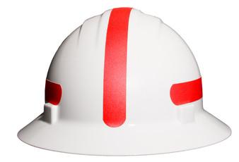 Americana Full Brim Mohawk Hard Hat - Reflective  Red