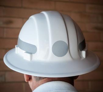 Omega II Full Brim Circle - Reflective  Hard Hat -  Silver