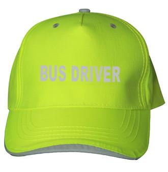 Reflective utility baseball cap - Neocap -  Bus Driver  -  Lime
