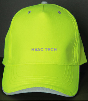 Reflective utility baseball cap - Neocap -  HVAC Tech -  Lime