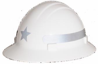 Americana Full Brim Star  - Reflective Hard Hat -  Silver