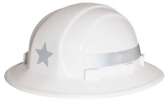 Omega II Full Brim Star - Reflective  Hard Hat - Silver