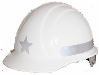 Liberty  Star - Reflective  Hard Hat -  Silver  / On Sale