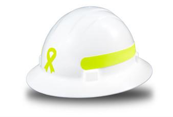 Americana Full Brim  Awareness Ribbon - Reflective  Fluorescent  / Prisma