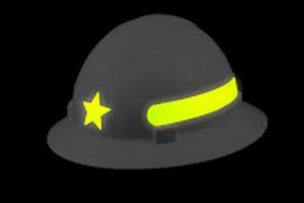 Americana Full Brim Star- Reflective  Fluorescent Lime / Prisma