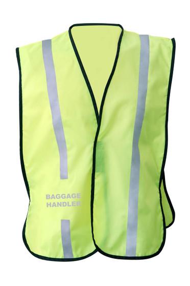 NON  ANSI Reflective  safety vest -Vestbadge -  Baggage Handler