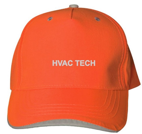 Reflective utility baseball cap - Neocap -  HVAC Tech -  Orange