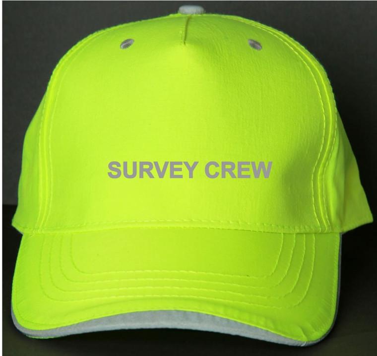 Reflective utility baseball cap - Neocap -  Survey crew -  Lime