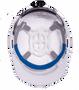 Americana Full Brim Circle - Reflective  Hard Hat -   Silver