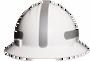 Americana Full Brim Mohawk - Reflective  Hard Hat -  Silver