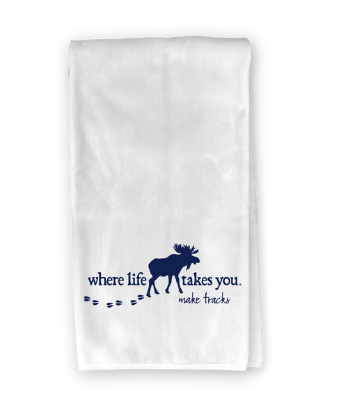 Moose (make tracks) Kitchen Towel - Where Life Takes You
