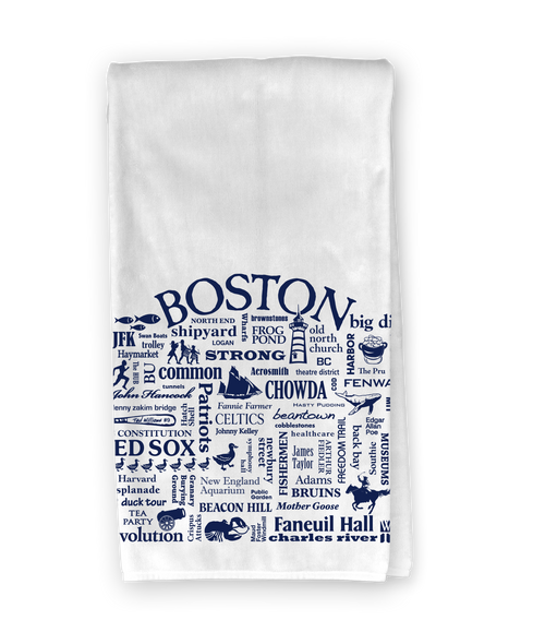 Boston Destination Kitchen Towel - Where Life Takes You